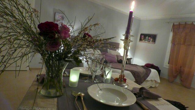Un dîner aux chandelles