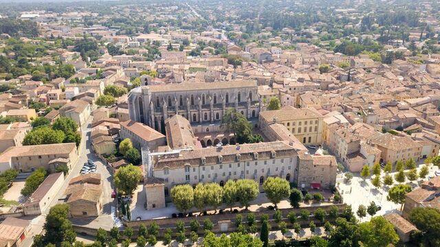 La Basilique et le Couvent Royal vue du ciel